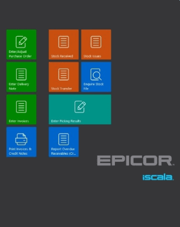 iscala, epicor, screen, todis consulting, system erp